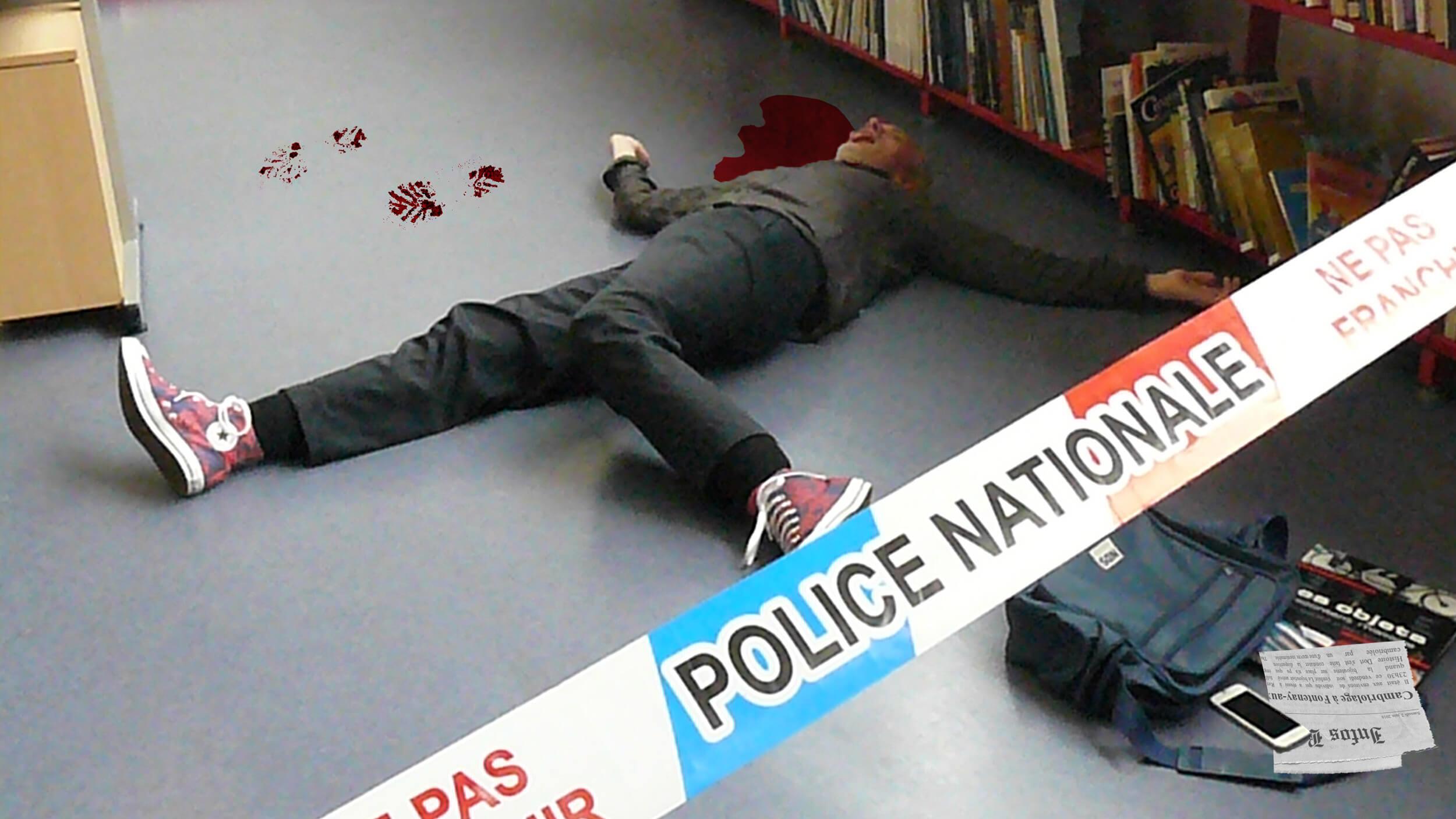 scène de crime journal web