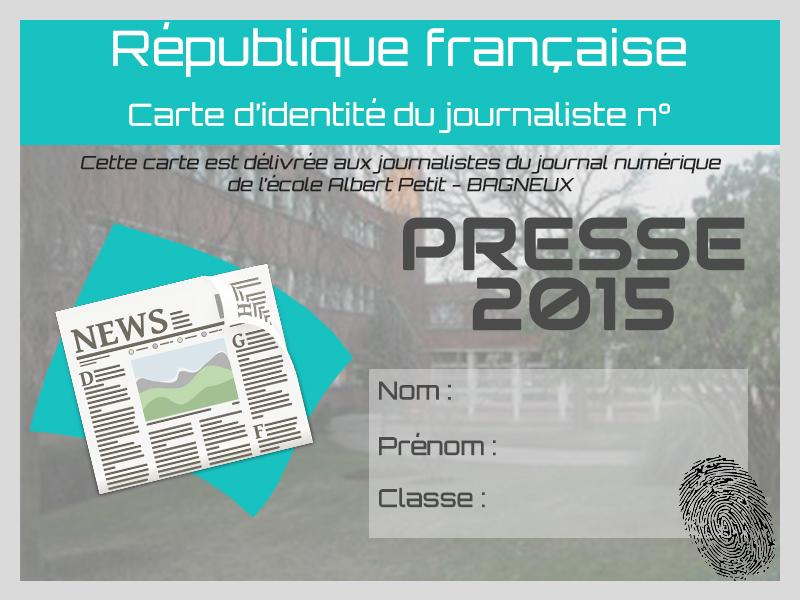 carte de presse CM2