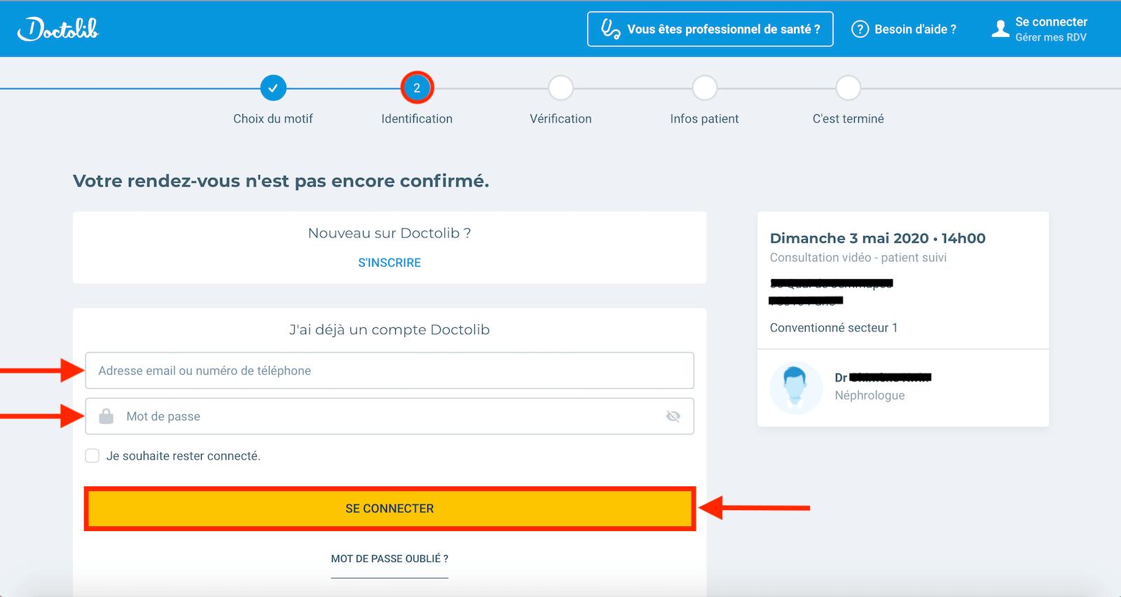 formulaire connexion